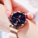 Starry Sky Magnetic Waterproof Rhinestone Wristwatch