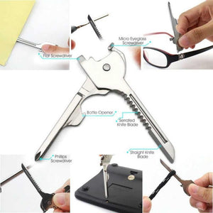 6 in 1 Stainless Steel Swiss Survival Key - Outdoorsy