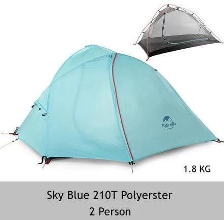 1-2 Person Double Layer Silicone Tent - With FREE Mat, Camping, Outdoorsy