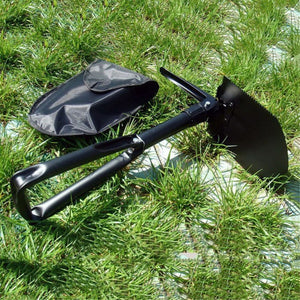 Multi-Function Carbon Steel Military Survival Shovel, Survival, Outdoorsy