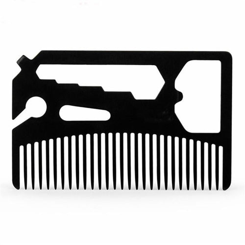 Multifunctional Utility Beard Comb, Apparel, eprolo, Outdoorsy