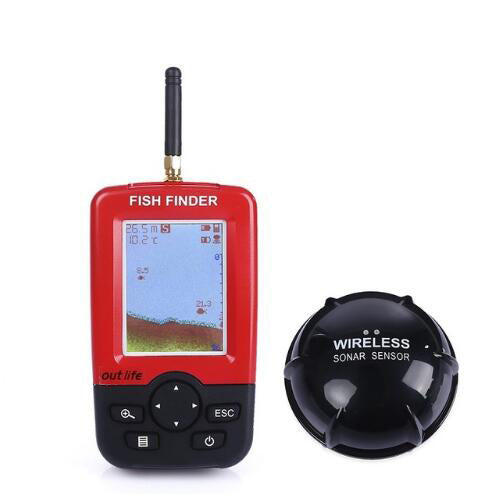 Outlife Smart Portable Depth Fish Finder with Receiver, Fishing, Outdoorsy