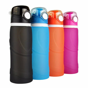 750ML Collapsible Silicone Water Bottles - Outdoorsy
