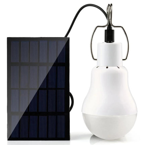 Portable Solar Powered Outdoor LED Light Bulb & Solar Panel, Camping, Outdoorsy
