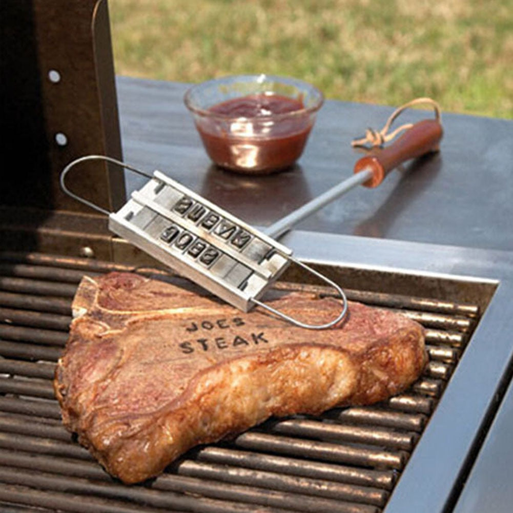 Meat Branding Iron With Changeable Letters, Camping, Outdoorsy