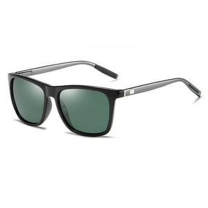 Unisex Aluminum Square Frame Polarized Sunglasses - Outdoorsy