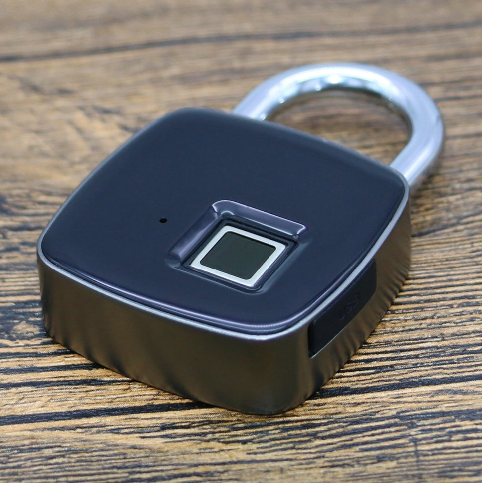 Smart Waterproof Fingerprint Padlock, Camping, Outdoorsy