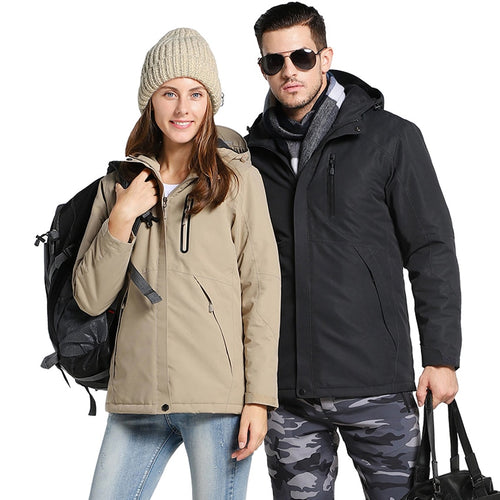 Waterproof Windproof USB Heated Jacket for Men and Women, Apparel, Outdoorsy