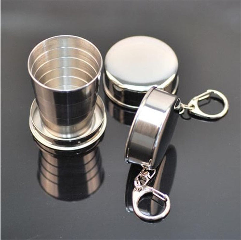 Stainless Steel Collapsible Shot Glass, Camping, Outdoorsy