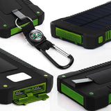 Waterproof Solar Power Bank with Dual USB, Fishing, Outdoorsy