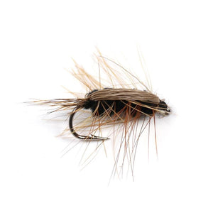10pcs Black Body Woolly Worm Flies - Outdoorsy