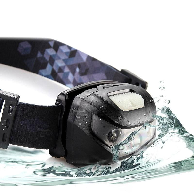Compact Rechargeable LED Headlamp with Motion Sensor, Fishing, Outdoorsy