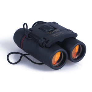Folding Day Night Binoculars + Bag, Camping, Outdoorsy