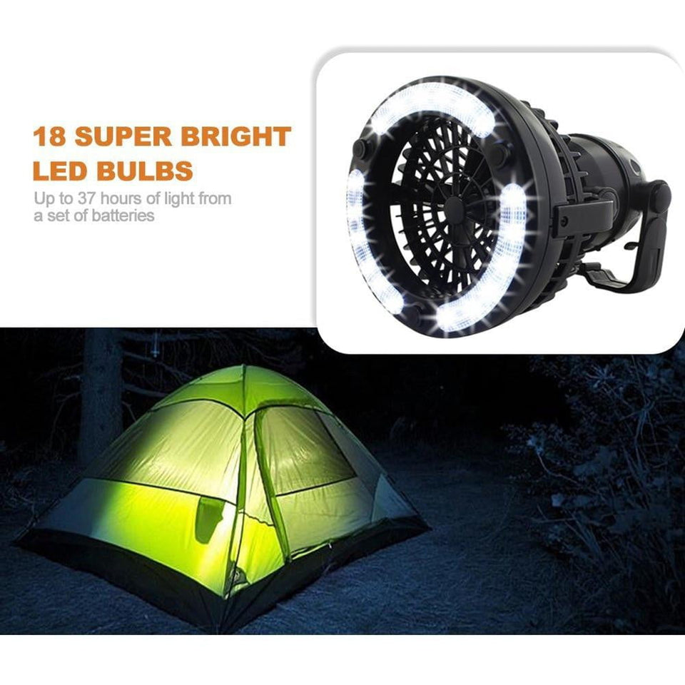 Luxury 2in1 Tent Fan & Light - Outdoorsy