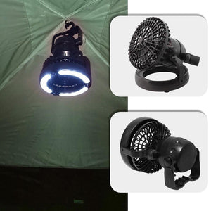 Luxury 2in1 Tent Fan & Light, Camping, Outdoorsy