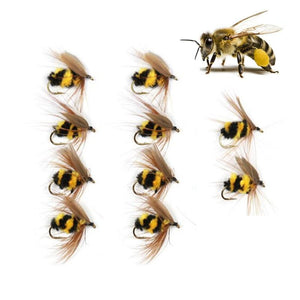 10pcs Bumble Bee Flies - Outdoorsy