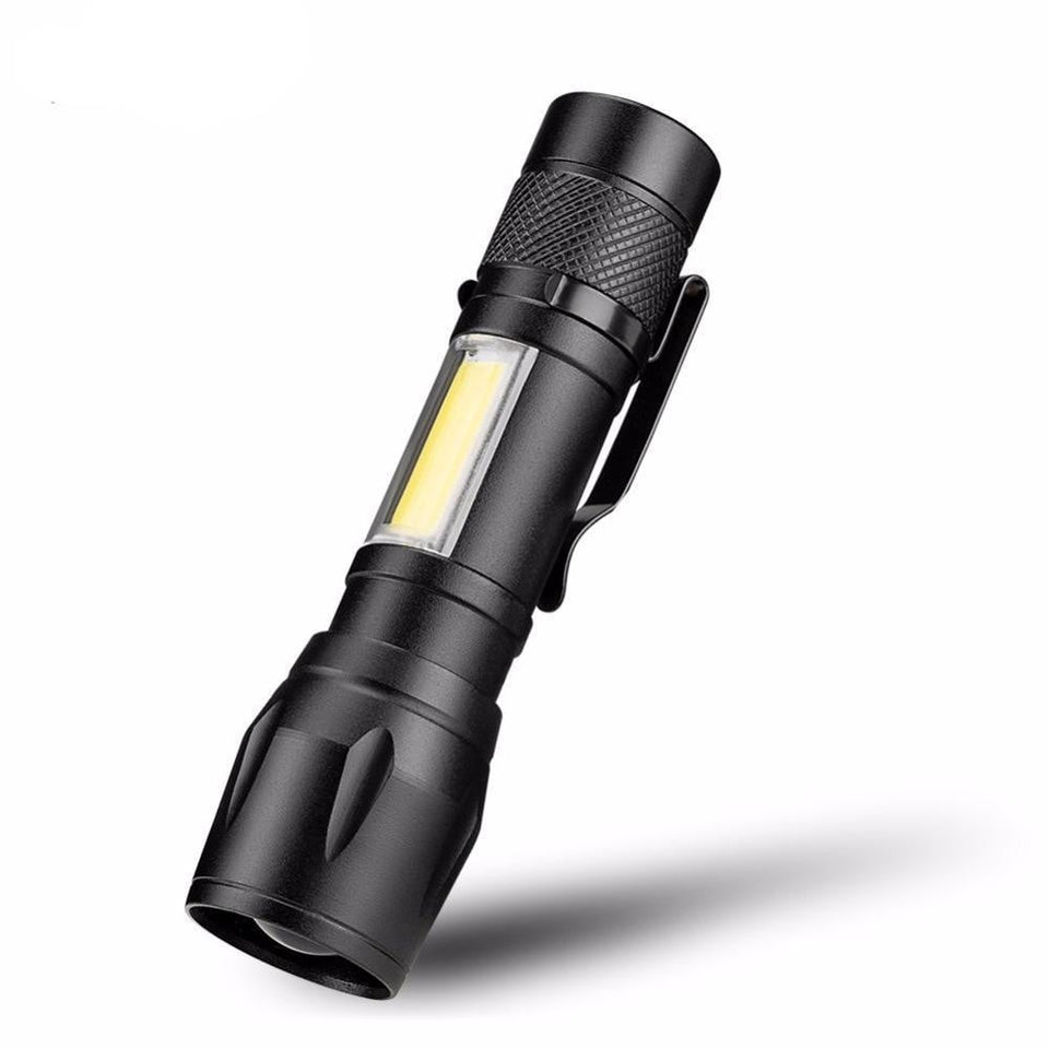 Mini Water Resistant COB LED Flashlight, Camping, Outdoorsy