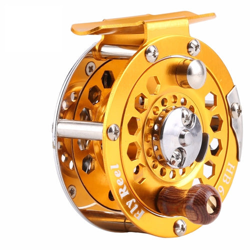 Quality High Strength Metal Body Fly Reel with Wooden Handle, Fishing, Outdoorsy