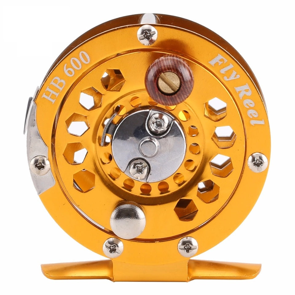 Quality High Strength Metal Body Fly Reel with Wooden Handle, Fishing, Outdoorsy, Outdoorsy