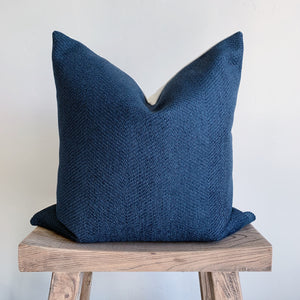 STELLA: Blue Chenille Pillow Cover 20x20