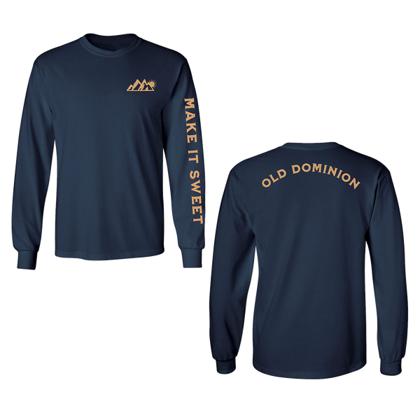 Make It Sweet Navy Long Sleeve