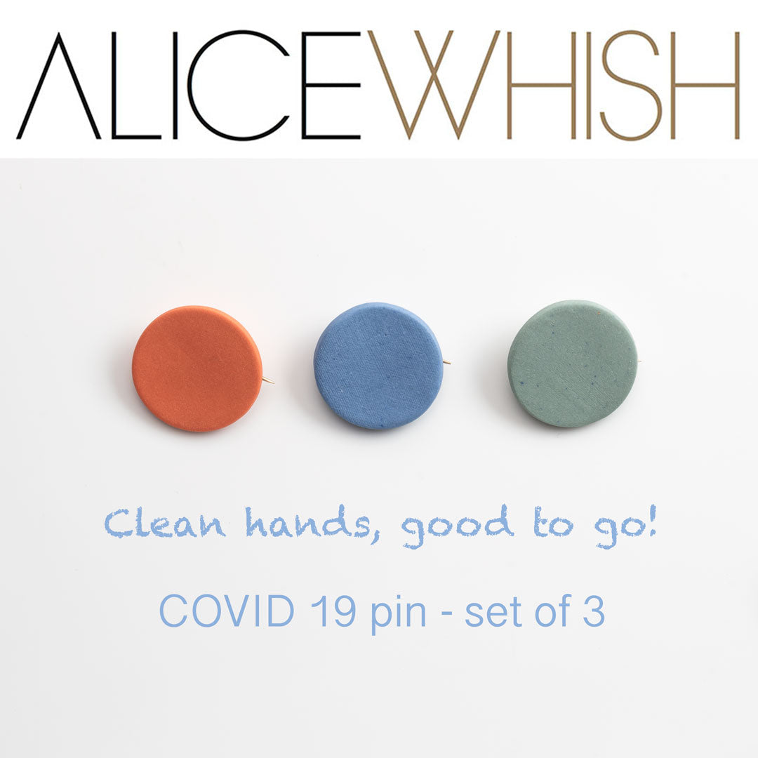 COVID 19 Pins set of 3
