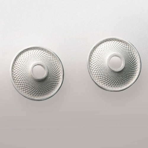 Mathematical disc in 925 silver - Earrings
