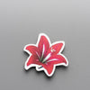Red Lily - Brooch