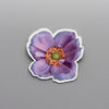 Wind Flower Purple - Brooch