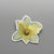 Brooch Yellow Lily