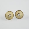 Yellow gold 18ct with fine texture surface - Earrings