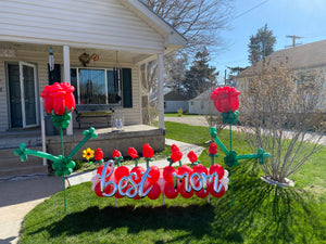Best Mom - Mothers Day front yard decor