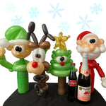Christmas balloon bottle buddy gifts