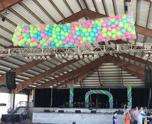 Custom designed balloon drop for your event