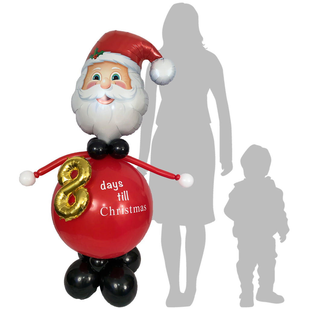 Count down Santa balloon