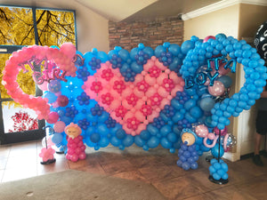 Full Gender reveal display