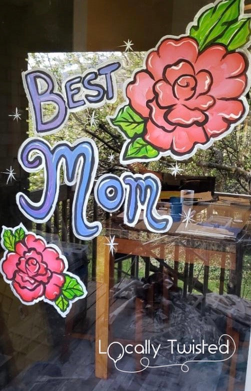 Mother's Day window painting