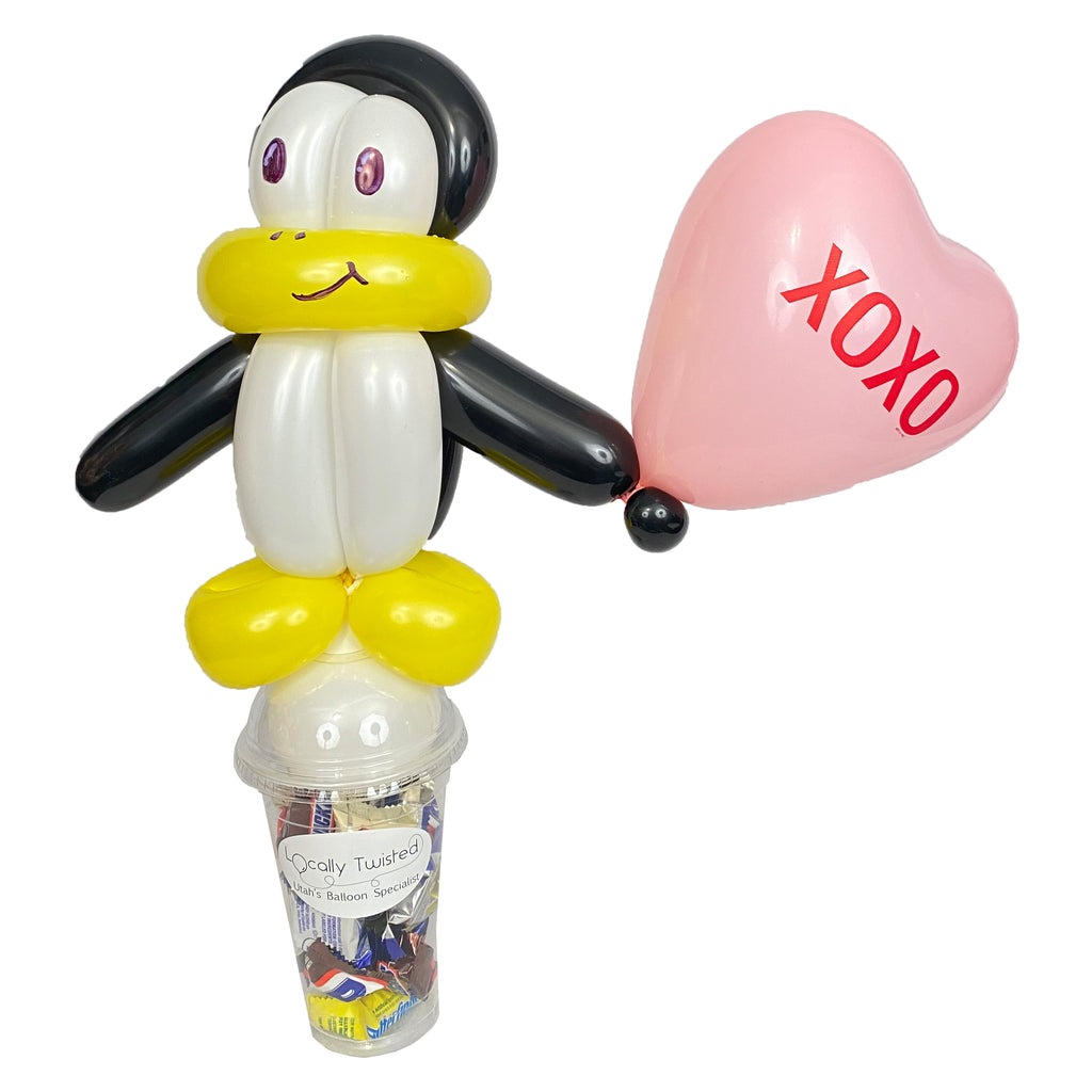 Penguin Valentines candy cup