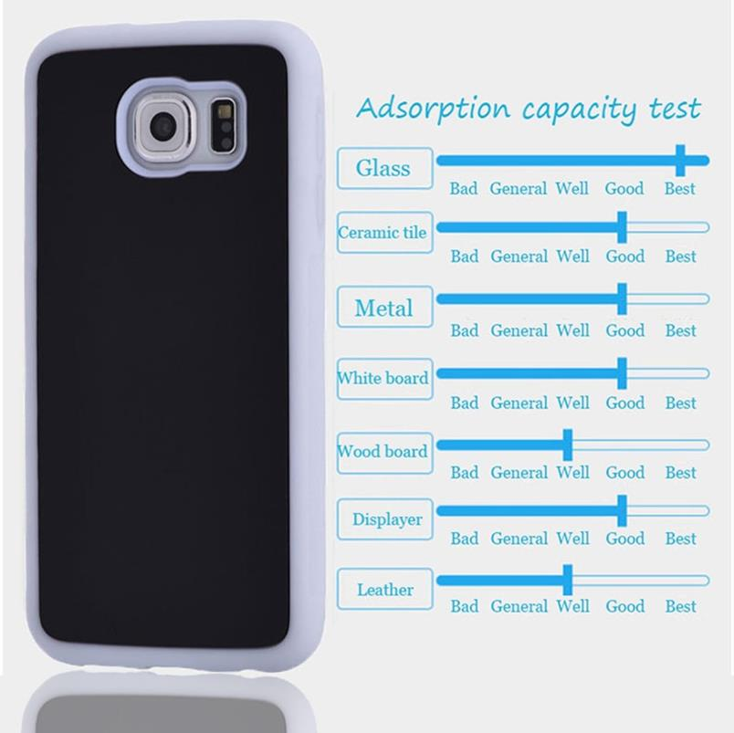 new arrival 363f1 42ba6 Anti-Gravity Nano Suction Phone Cases For Samsung Galaxy S4 S5 S6 S7 Edge  Plus Note 5