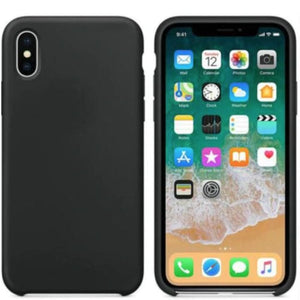 Coque Silicone pour iPhone 5 / 5S / 6 / 6S / 6+ / 6S+ / 7 / 7+ / 8 / 8+ / X / XR / XS / Max - Black