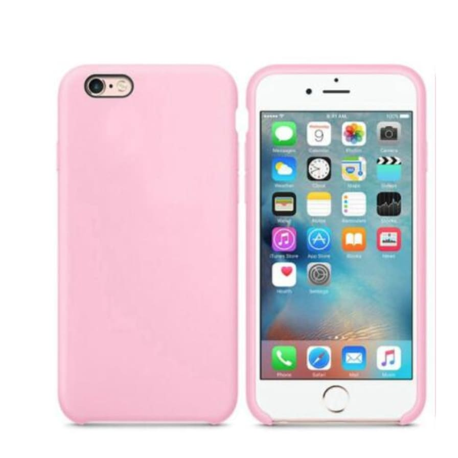 Coque Silicone pour iPhone 5 / 5S / 6 / 6S / 6+ / 6S+ / 7 / 7+ / 8 / 8+ / X / XR / XS / Max - Bright Pink