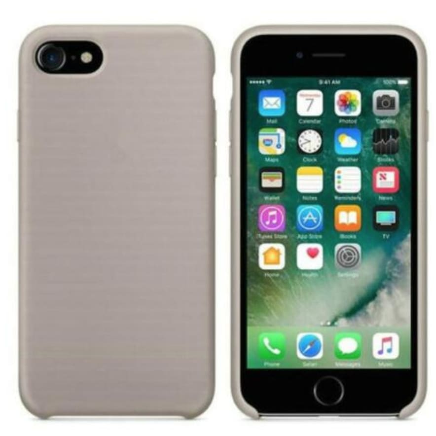 Coque Silicone pour iPhone 5 / 5S / 6 / 6S / 6+ / 6S+ / 7 / 7+ / 8 / 8+ / X / XR / XS / Max - Pebble