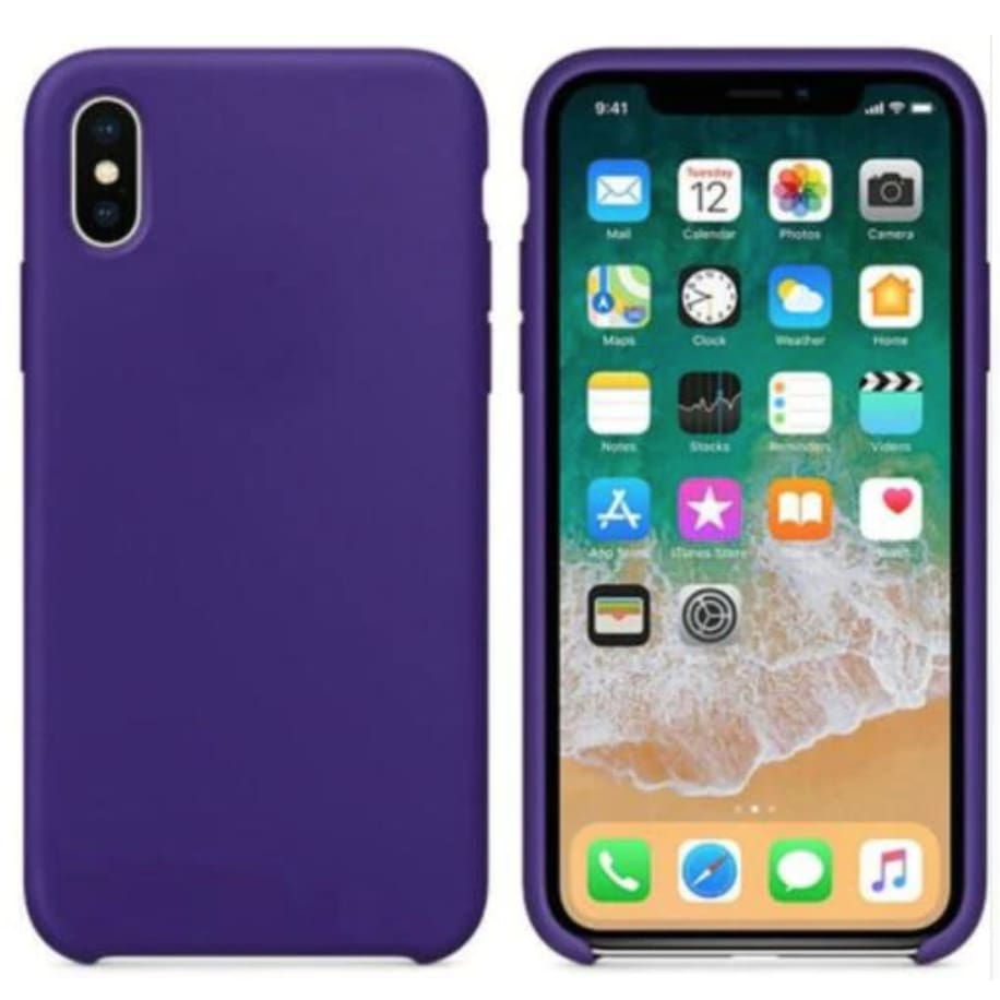 Coque Silicone pour iPhone 5 / 5S / 6 / 6S / 6+ / 6S+ / 7 / 7+ / 8 / 8+ / X / XR / XS / Max - Purple