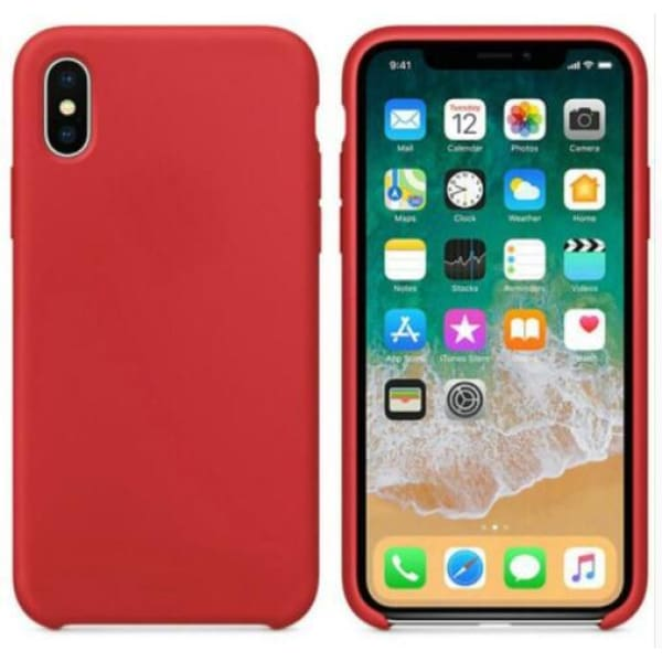Coque Silicone pour iPhone 5 / 5S / 6 / 6S / 6+ / 6S+ / 7 / 7+ / 8 / 8+ / X / XR / XS / Max - Red