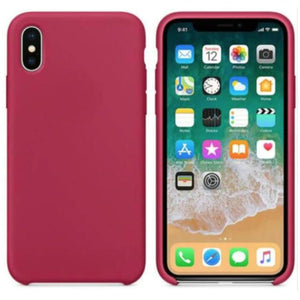 Coque Silicone pour iPhone 5 / 5S / 6 / 6S / 6+ / 6S+ / 7 / 7+ / 8 / 8+ / X / XR / XS / Max - Rose Red