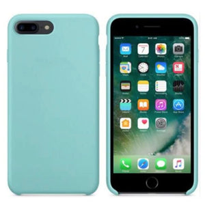 Coque Silicone pour iPhone 5 / 5S / 6 / 6S / 6+ / 6S+ / 7 / 7+ / 8 / 8+ / X / XR / XS / Max - Sea Blue