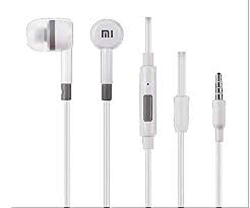 Amazing_Deal Wired Earphone with Mic (White)