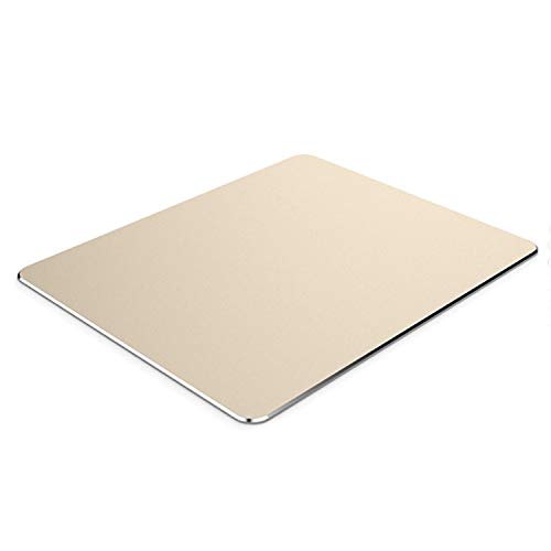 Brain Freezer Aluminium Mousepad - Anti-Skid Intensive Gaming Mouse Pad for MacBook, Laptop & Desktop (L) Golden