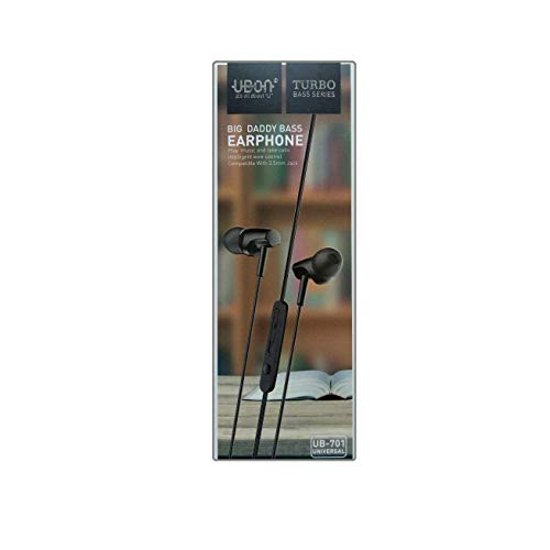 UBON UB-701 Universal in-Ear Headphones with Mic (Black)