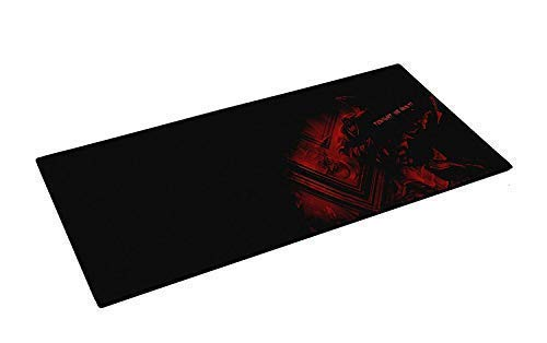 NSinc Large XXL Gaming Mouse Pad with Nonslip Base, Thick, Waterproof & Foldable Mat for Desktop, Laptop, Keyboard, Consoles & More, Random Colour and Design